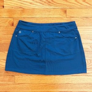 ATHLETA Bettona Running Skort Blue Skirt Small
